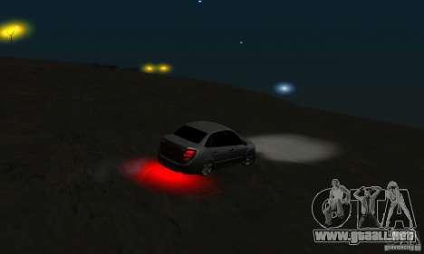 Lada Granta Light Tuning para vista lateral GTA San Andreas