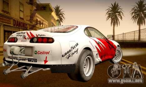 Toyota Supra JZA80 RZ Dragster para visión interna GTA San Andreas