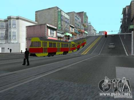 Tatra T3SU para visión interna GTA San Andreas