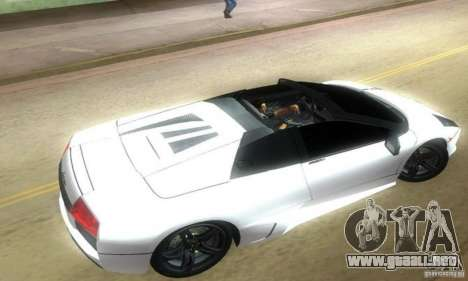 Lamborghini Murcielago LP640 Roadster para GTA Vice City left