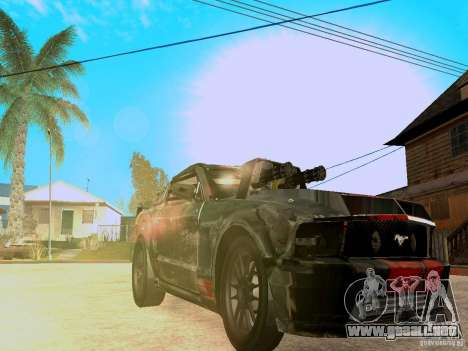 Ford Mustang Death Race para visión interna GTA San Andreas