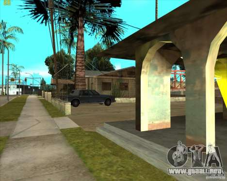 Car in Grove Street para GTA San Andreas quinta pantalla
