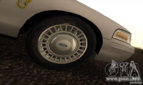 Ford Crown Victoria Colorado Police para la visión correcta GTA San Andreas