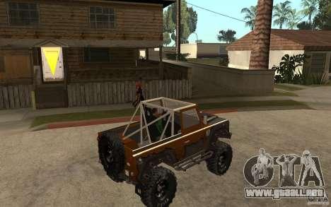 Land Rover Defender Extreme Off-Road para la visión correcta GTA San Andreas