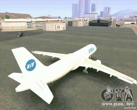 Airbus A-320 aerolínea UTair para visión interna GTA San Andreas