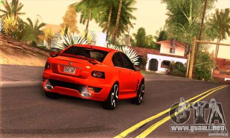 Holden HSV GTS para GTA San Andreas vista hacia atrás