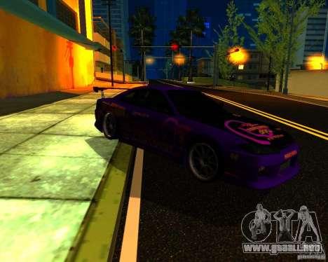 Nissan Silvia C-West para GTA San Andreas vista posterior izquierda