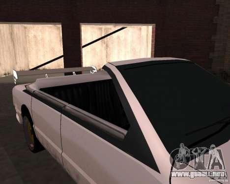 Taxi Cabriolet para visión interna GTA San Andreas