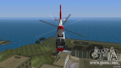 Eurocopter As-365N Dauphin II para GTA Vice City vista lateral