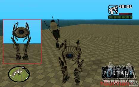 Robot de Portal 2 # 1 para GTA San Andreas