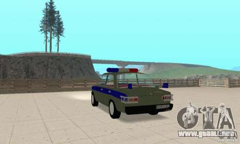 VAZ 2101 policía para GTA San Andreas left
