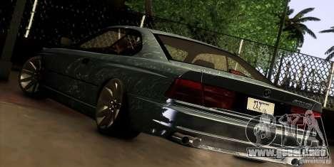 BMW 850 CSI para la visión correcta GTA San Andreas