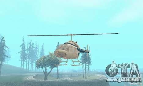 Bell 206B JetRanger II para la visión correcta GTA San Andreas