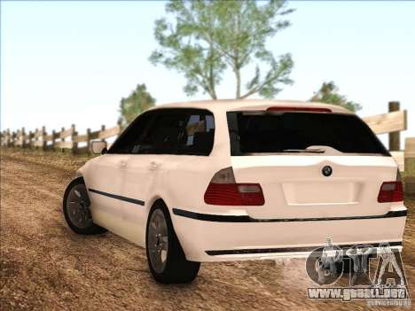 BMW M3 E46 Touring para GTA San Andreas vista posterior izquierda