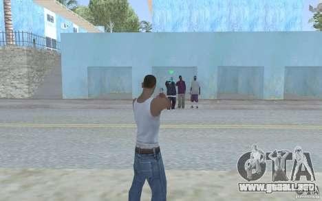 Vista azul para GTA San Andreas segunda pantalla