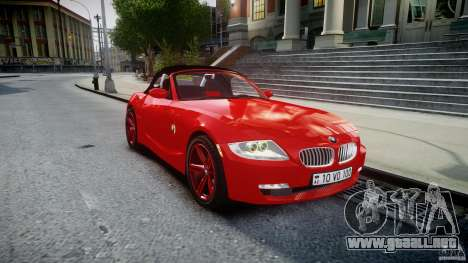 BMW Z4 Roadster 2007 i3.0 Final para GTA 4 vista interior