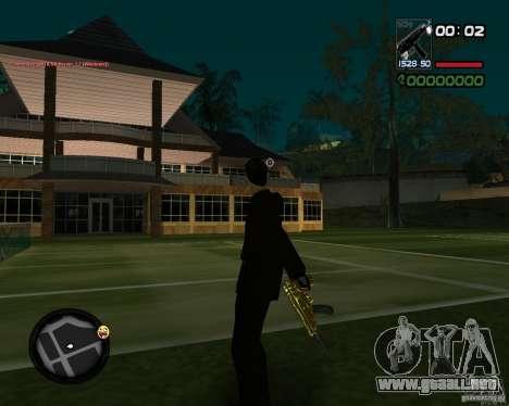 Tec 9 GOLD para GTA San Andreas segunda pantalla