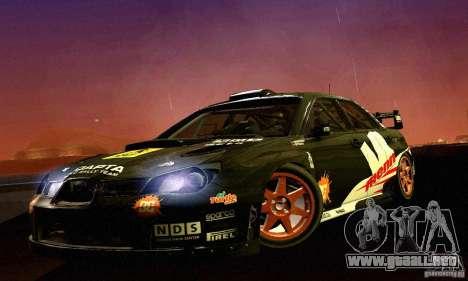 Subaru Impreza WRC 2007 para GTA San Andreas left