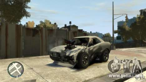 Mini Dukes para GTA 4 vista hacia atrás