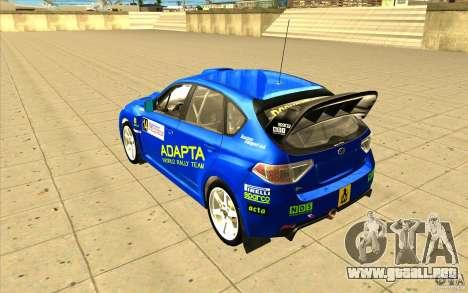 Subaru Impreza WRX STi con el único nuevo vinilo para vista inferior GTA San Andreas