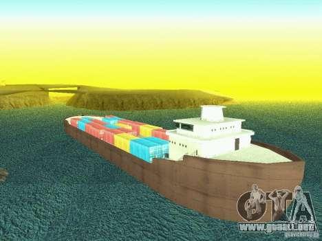 Drivable Cargoship para GTA San Andreas sucesivamente de pantalla