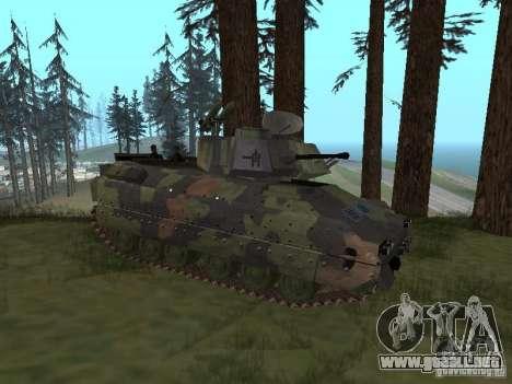 M2A3 Bradley para GTA San Andreas vista posterior izquierda