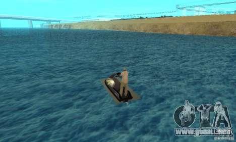 Moto de agua para GTA San Andreas vista posterior izquierda