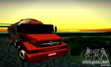 Mercedes-Benz L1620 Tanque para GTA San Andreas vista hacia atrás