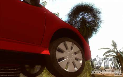 Kia Rio para GTA San Andreas vista hacia atrás