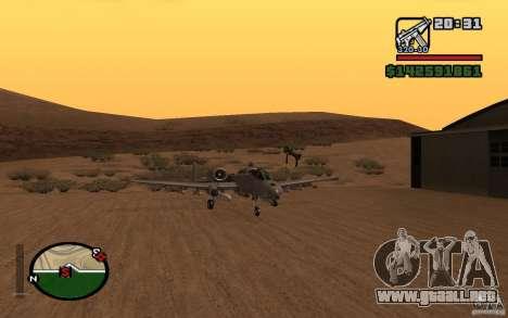 Thunderbold A-10 para GTA San Andreas left