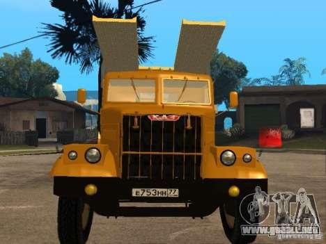 Transportador automático KrAZ 255 para GTA San Andreas left