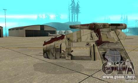 Cañonera de la República de Star Wars para GTA San Andreas left