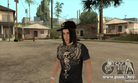 Criss Angel Skin para GTA San Andreas segunda pantalla