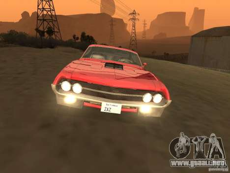 Ford Torino Cobra 1970 Tunable para visión interna GTA San Andreas