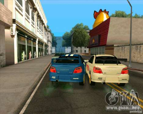Subaru Impreza WRX STi Tunable para GTA San Andreas vista posterior izquierda