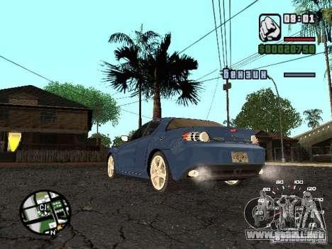 Mazda RX 8 para GTA San Andreas left