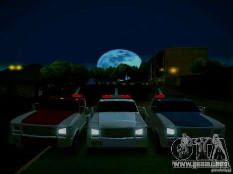 Towtruck tuned para GTA San Andreas vista hacia atrás