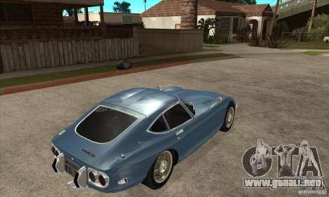 Toyota 2000GT para la visión correcta GTA San Andreas