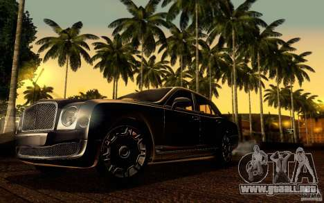Bentley Mulsanne 2010 v1.0 para vista inferior GTA San Andreas