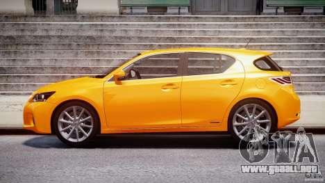 Lexus CT200h 2011 para GTA 4 left