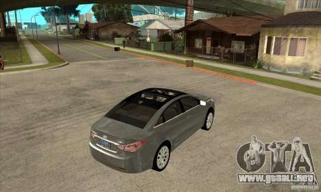 Hyundai Sonata 2011 para la visión correcta GTA San Andreas