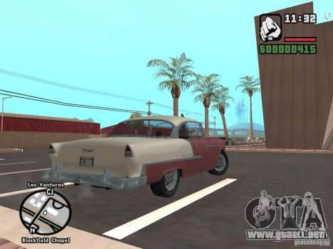 1955 Chevy Belair Sports Coupe para GTA San Andreas left