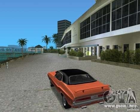 1970 Dodge Challenger R/T Hemi para GTA Vice City visión correcta