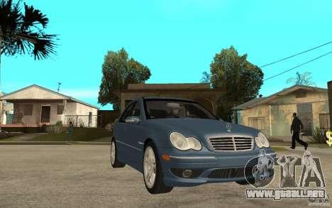 Mercedes-Benz C32 AMG 2003 para GTA San Andreas vista hacia atrás