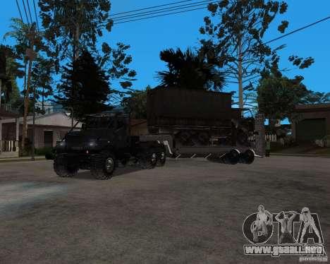 KrAZ 255 + remolque artict2 para GTA San Andreas left