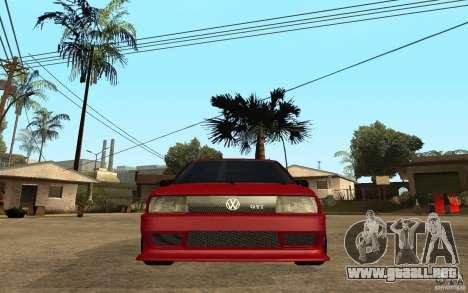 Volkswagen Golf 2 GTI Tuned para la visión correcta GTA San Andreas