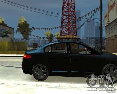 Renault Fluence para GTA 4 visión correcta