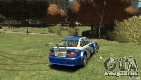BMW M3 GTR NFS MOST WANTED para GTA 4 visión correcta