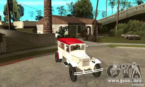 Ambulancia GAZ AA para GTA San Andreas vista hacia atrás