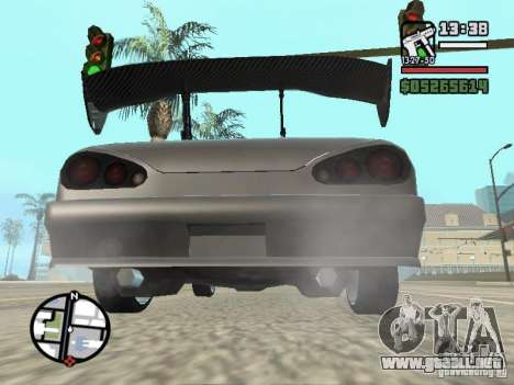 Elegy First Update By reNz para GTA San Andreas vista posterior izquierda
